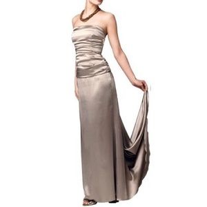 Nicole Miller Strapless Bridesmaid Prom Gown Dress
